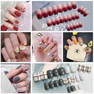Spot 24 Box 3D False Nail Manicure False Nail Finished Phototherapy Nail Manicure Sticker Manicure Sticker Japanese Nail Spot 24 Box 3D Manicure Kuku Palsu Kuku Palsu Selesai Fototerapi Manicure Stiker Kuku Stiker Kuku Jepang thumbnail