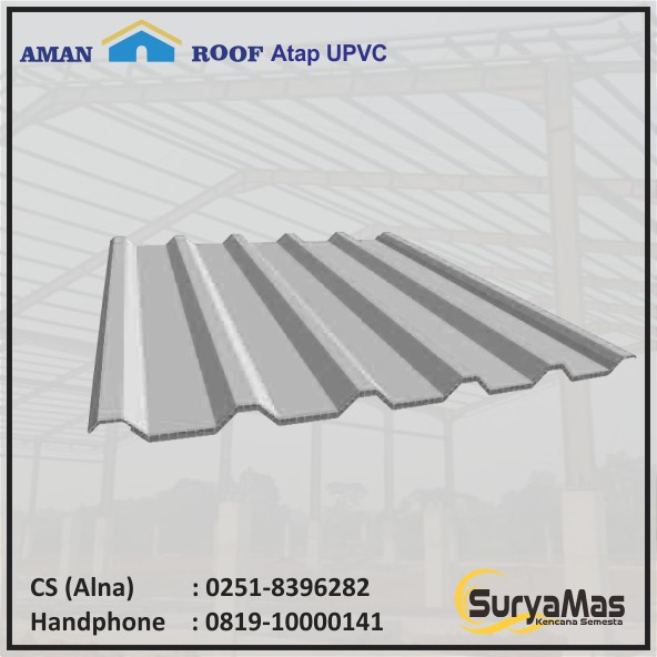 Atap Upvc Amanroof Eff 840 Putih Shopee Indonesia