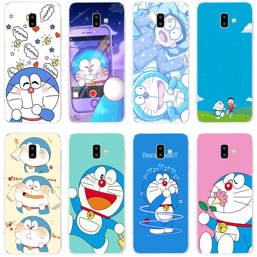 Soft Case Bahan Silikon Tpu Motif Doraemon Untuk Samsung Galaxy Grand Prime A3 2017 J6 2018 Plus J5 2017 J8 2018