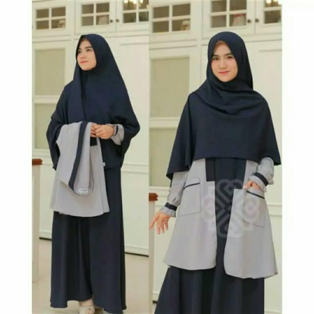Elbina set Gamis + Outer (Hijab check out Terpisah)