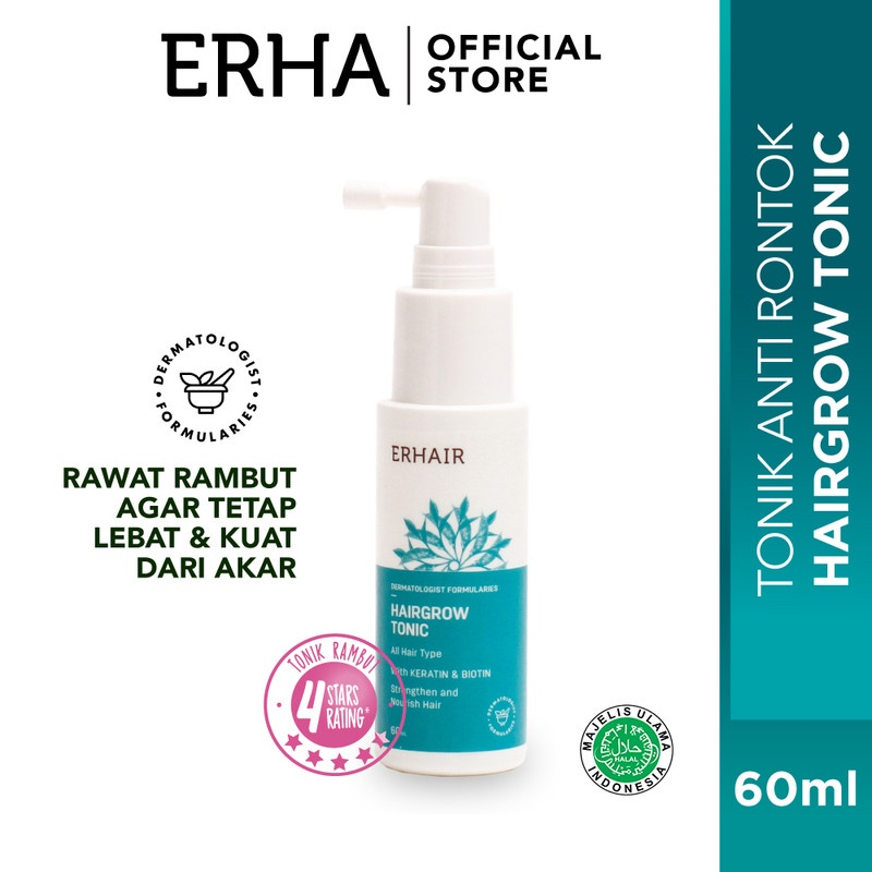 ERHAIR Hairgrow Shampoo 100 ml & Hairgrow Tonic 60 ml (Free Bandana)-2