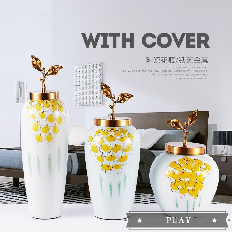 Vas Bunga Bahan Keramik Untuk Dekorasi Ruang Tamu Restoran Shopee Indonesia