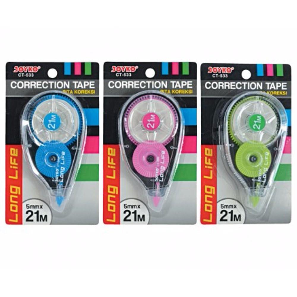 Pen Paper Correction Tape Tipex Kertas Joyko Ct 533 1 Pcs Harga Tombow Cx5cr5 5 Mm X 12 M Pc Tip Ex 21m 5mm Shopee