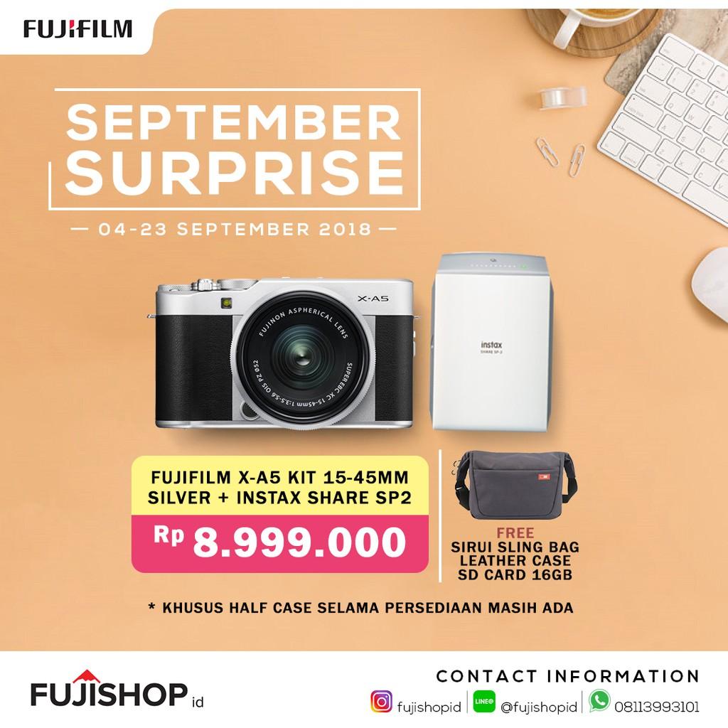 Kamera Fujifilm X T20 Kit 16 50 Fuji Xt20 1 Mirrorless Xt 20 Silver 1855 Mm Hitam Shopee Indonesia