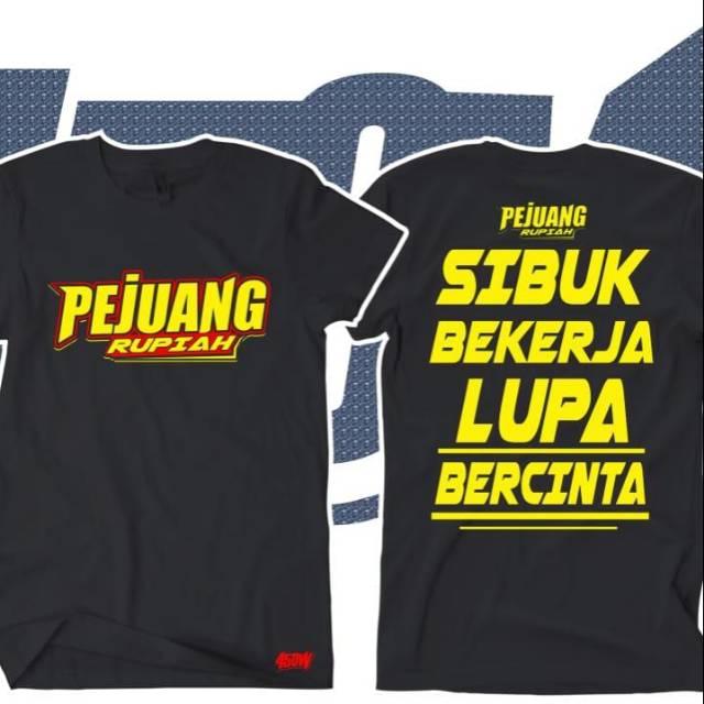 Kaos Kata Kata Pejuang Rupiah Shopee Indonesia
