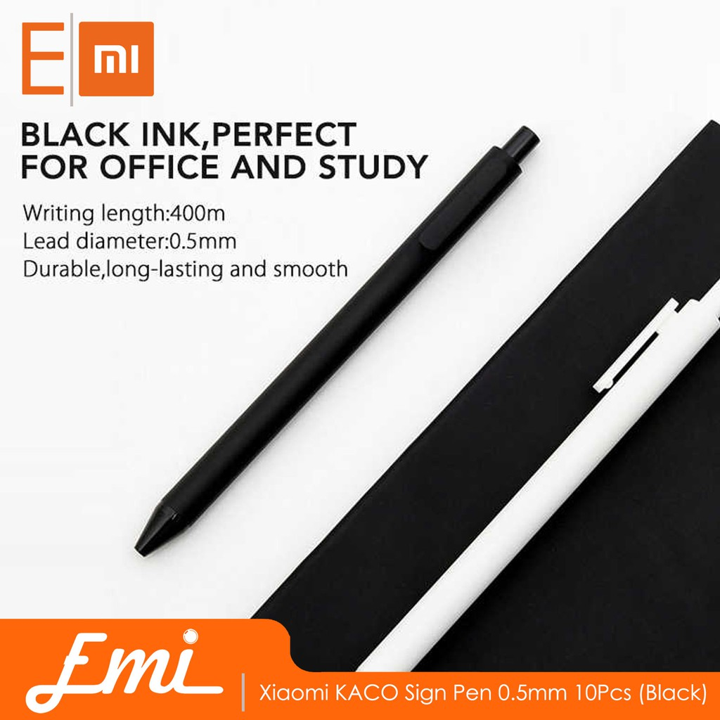 XIAOMI MIJIA 0.5MM SMOOTH WRITING SIGNING BALL POINT GEL PEN STATIONERY SUPPLIES