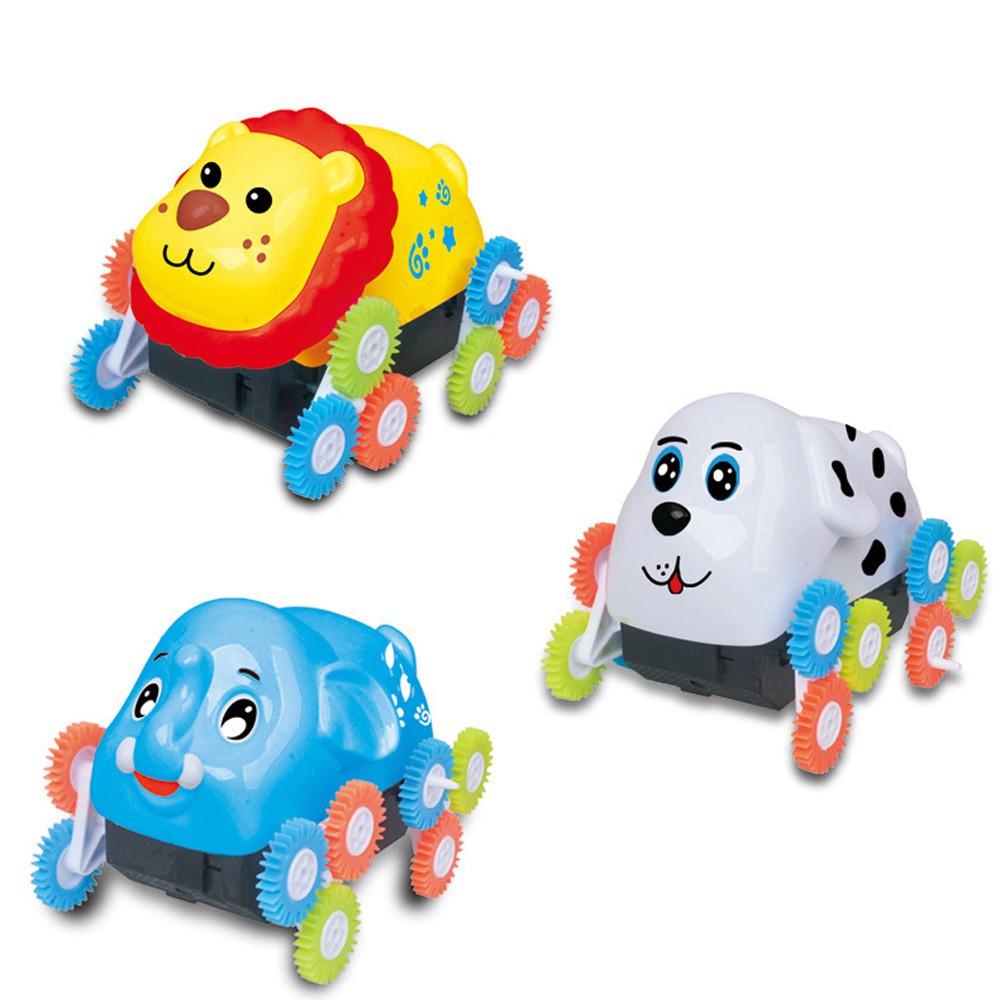 Fashion 12 Wheels Electric Dumpers Car Animal Shape Stunt Toy Novelty Gift Nice