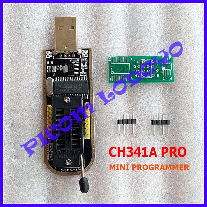 CH341A PRO MINI PROGRAMMER SUPPORT TTL NEW BLACK EDITION CH341 ALAT FLASH  PROGRAMER MURAH DAN HANDAL