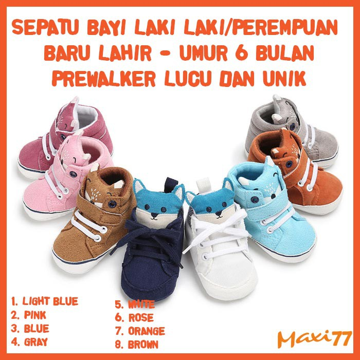 Sepatu Bayi Laki Laki Perempuan Baru Lahir Umur 6 Bulan
