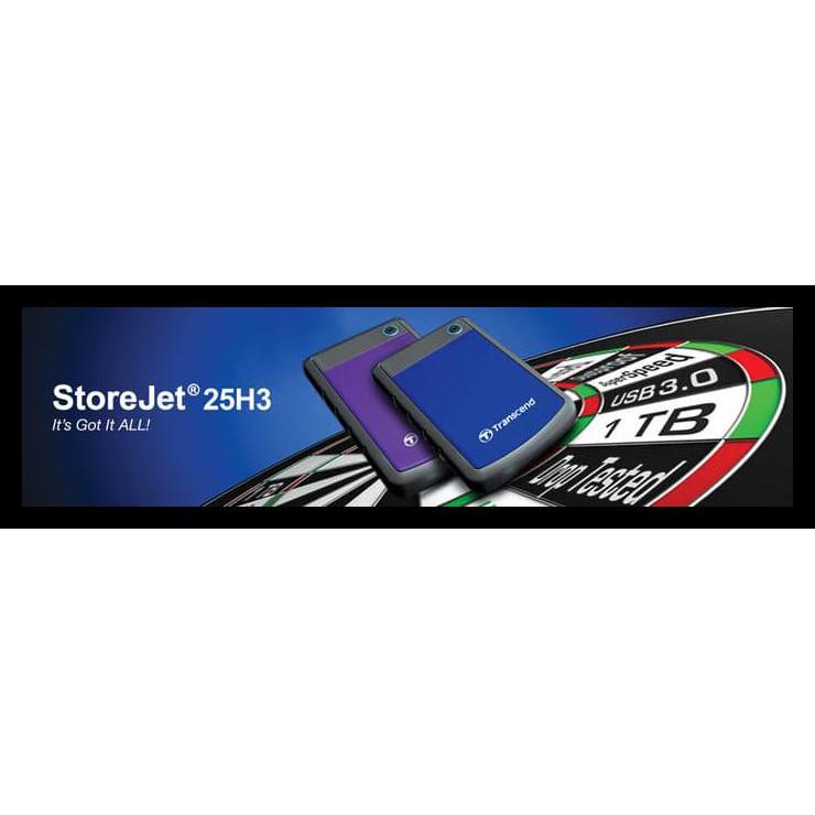 Kualitas Terjamin Transcend Jet 25 H3 2Tb Usb 3 0 Antishock