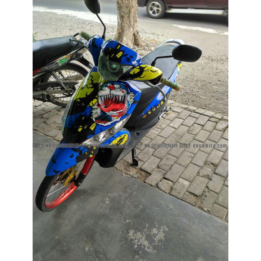 Decal stiker motor mio sporty racing roadrace dekal sticker striping custom mio sporty d r3 016 shopee indonesia