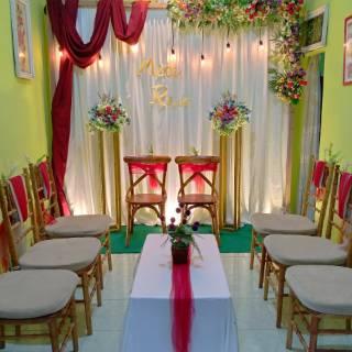 dekorasi lamaran backdrop engagement photobooth akad ultah