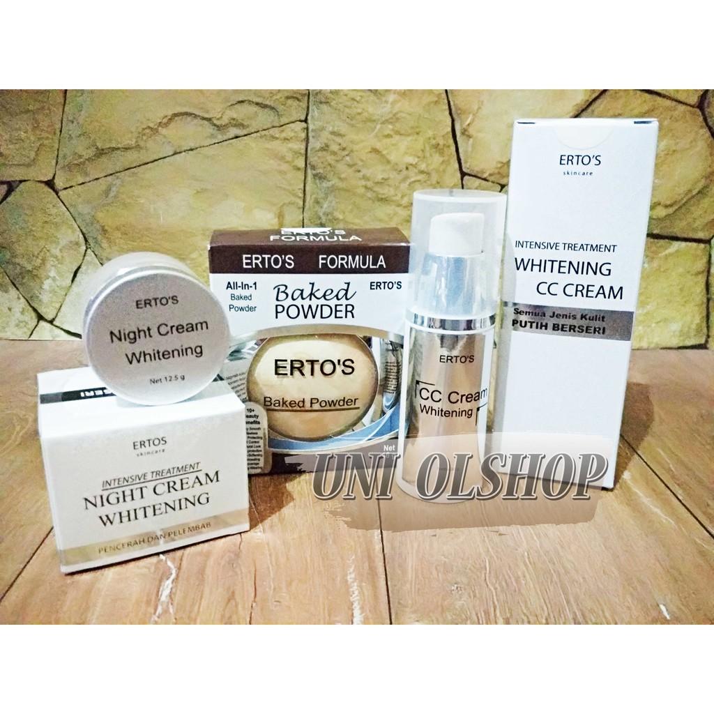 Ertos Paket Cc Cream Night Baked Powder Daftar Update Harga Hemat Kekinian Facial Treatment And Whitening Bedak