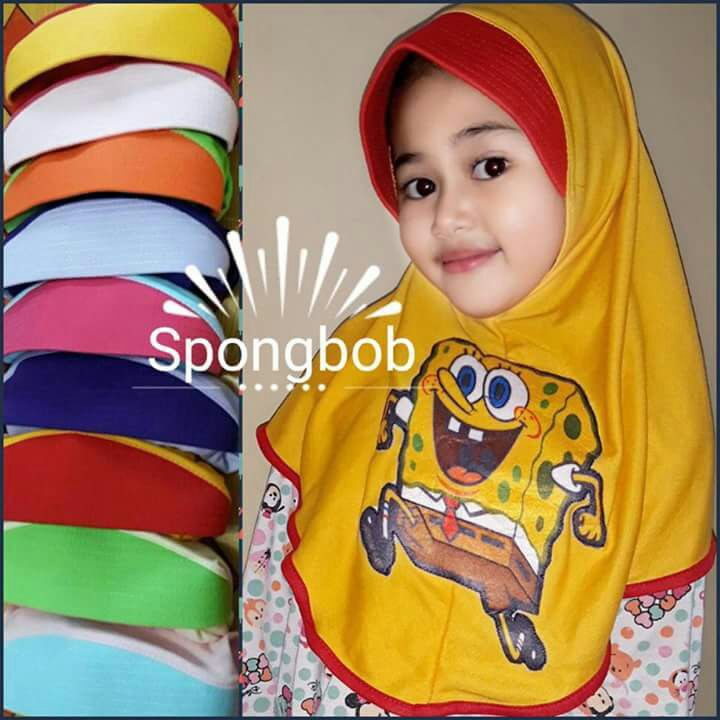 Jilbab anak SD/jilbab hijab aanak tanggung karakter DONALD DUCK   Shopee Indonesia