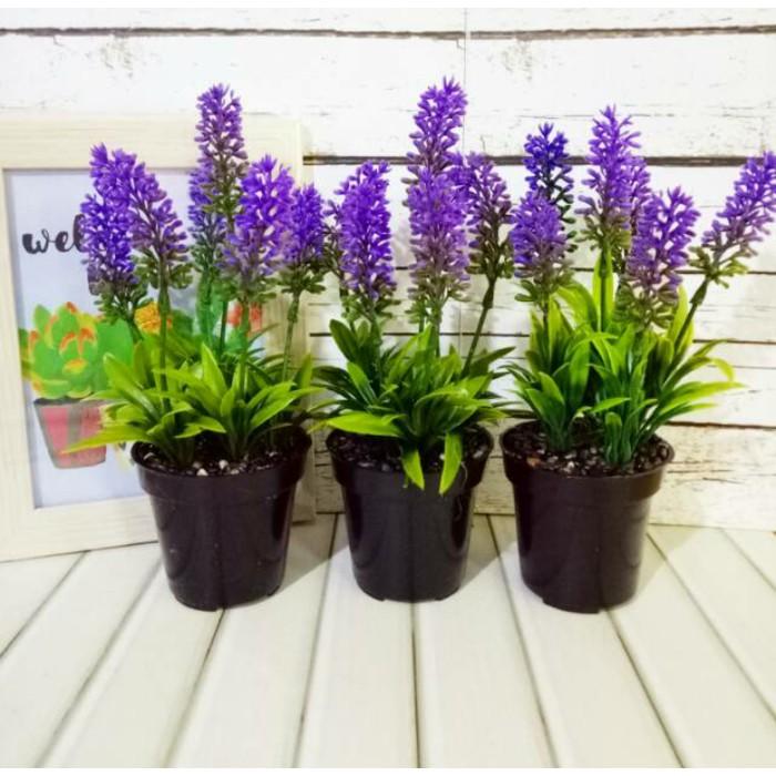 Bunga Lavender Hias Artificial Tanaman Plastik Dekorasi Shopee Indonesia