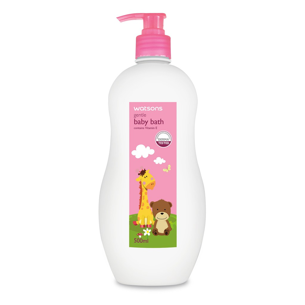 Watsons Gentle Baby Shampoo 500ml Shopee Indonesia Twin Pack Zwitsal Bath Natural Minyak Telon Pump 300 Ml