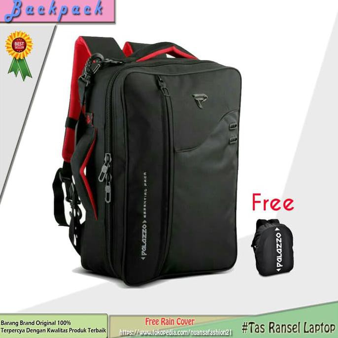 Tas Ransel Selempang Palazzo Laptop 3 In 1 Multi Fungsi 34685 Original + Free Rain Cover | Shopee Indonesia