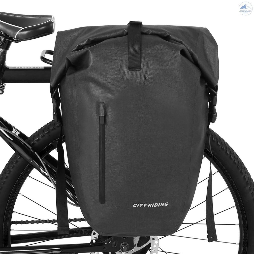 Lixada Bike Rear Bag 10L//20L Bicycle Pannier Bag Saddle Bag Bicycle Rear Seat Bag Bike Carrier Trunk Bag Luggage Double Bag with Waterproof Rain Cover