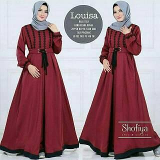 Hot Gamis Polos Murah Syari Gu Hijab Gandi Hitam Dress Maxi Polos
