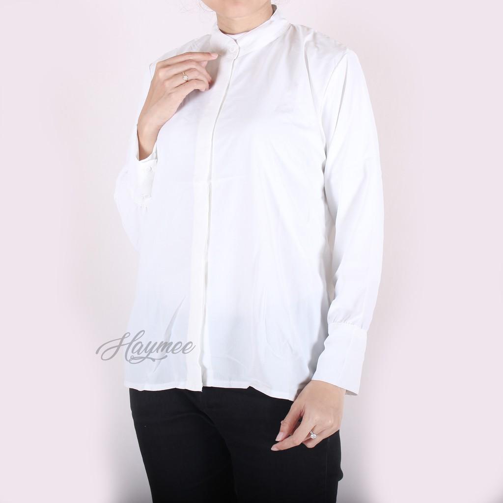HaymeeStore Baju Kantor Wanita Baju Kemeja Atasan Wanita Baju Kemeja Wanita  Atasan Casual Cewek  2393497271