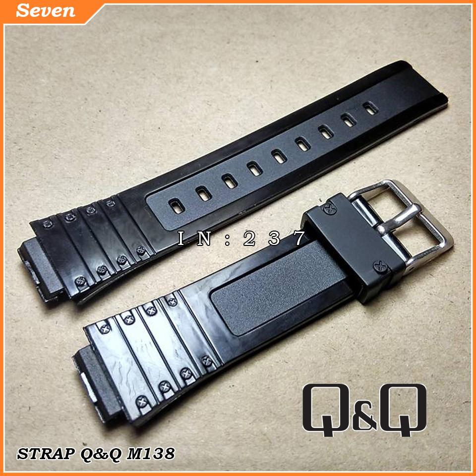 Strap Q&Q M138/Tali Jam Q&Q M138/RUBBER STRAP Q&Q M138 | Shopee Indonesia