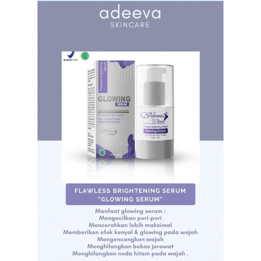 Serum Glowing By Adeeva Skincare Shopee Indonesia