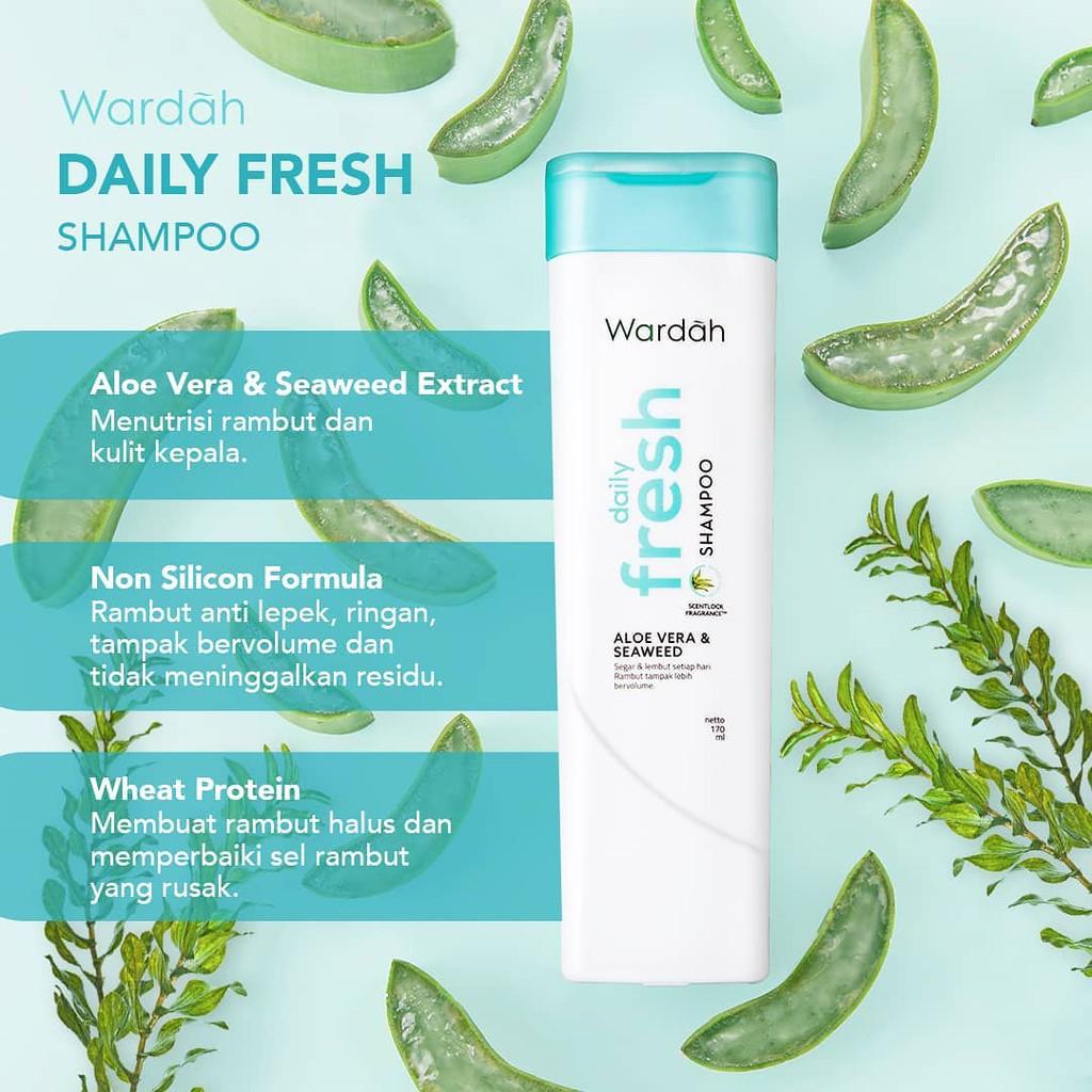 ❤ BELIA ❤ Wardah Shampoo & Conditioner   Daily Fresh Hairfall Treatment Anti Dandruff Nutri Shine-2