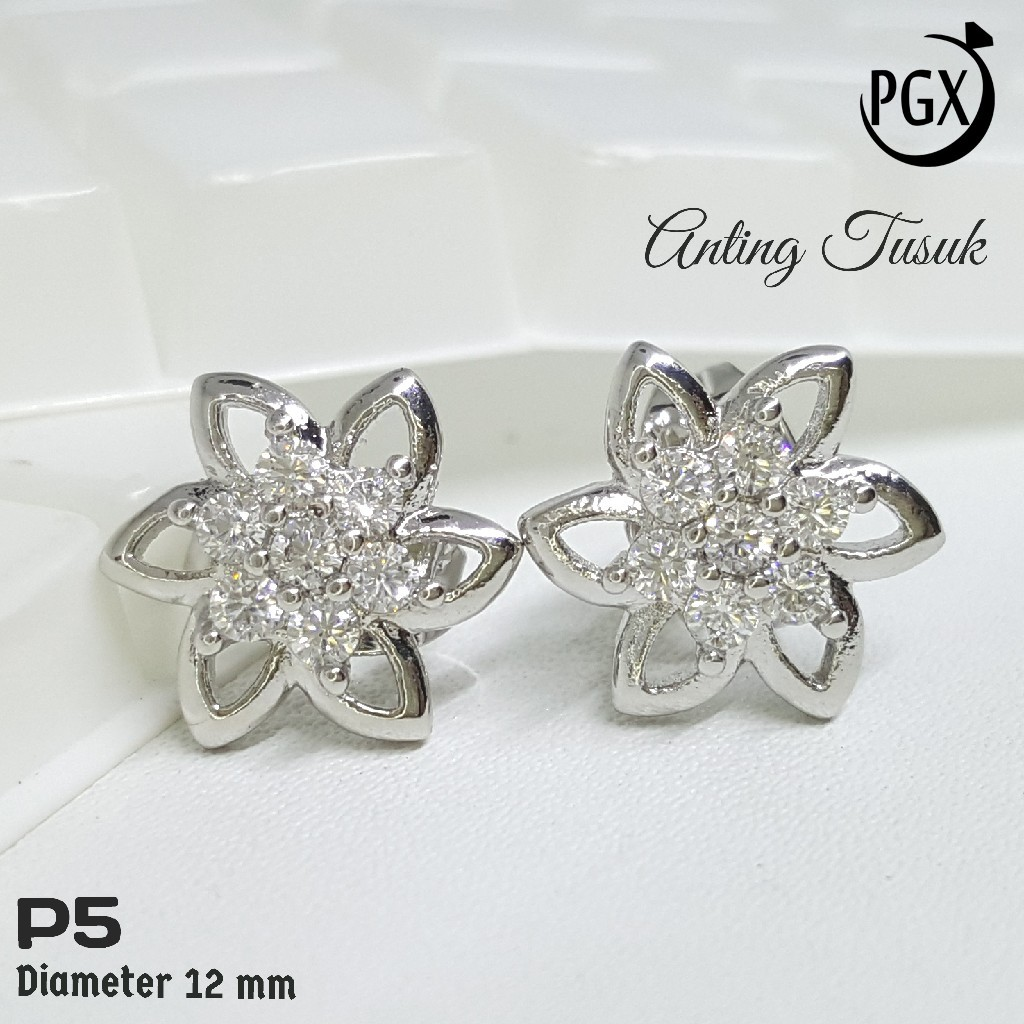 Anting-Anting Bulat Model Hati Bahan Perak Warna Emas Sterling Silver Kasual Perhiasan Wanita | Shopee Indonesia