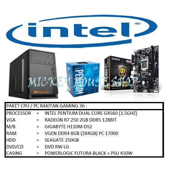 PC PAKET CPU / PC RAKITAN GAMING 36 / INTEL PENTIUM GOLD G5400 (3.7 GHZ)