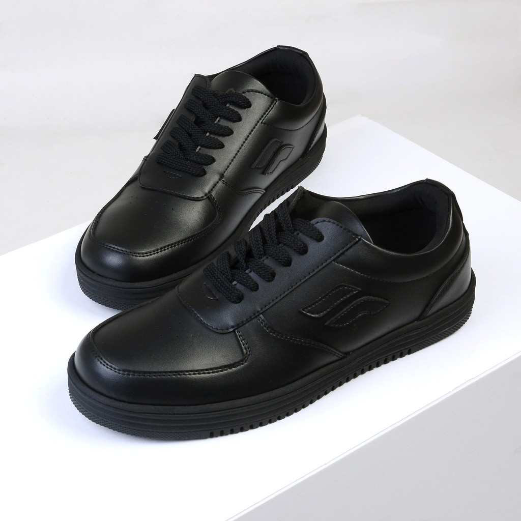 Wave Black Sepatu Sneakers Hitam Casual Klasik Vintage Kasual Kantor Pria Cowok Original Footwear Shopee Indonesia
