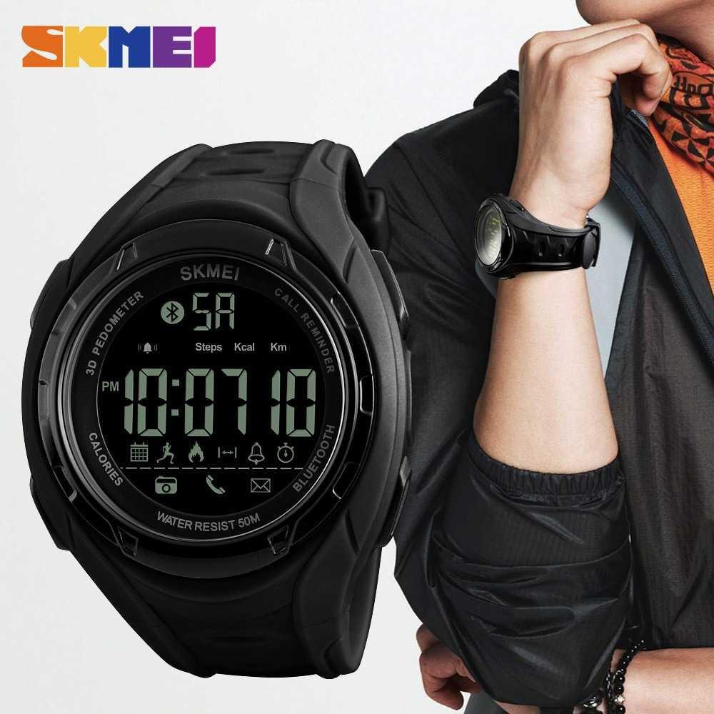 SKMEI Jam Tangan Olahraga Smartwatch Bluetooth - DG1227 BL | Shopee Indonesia