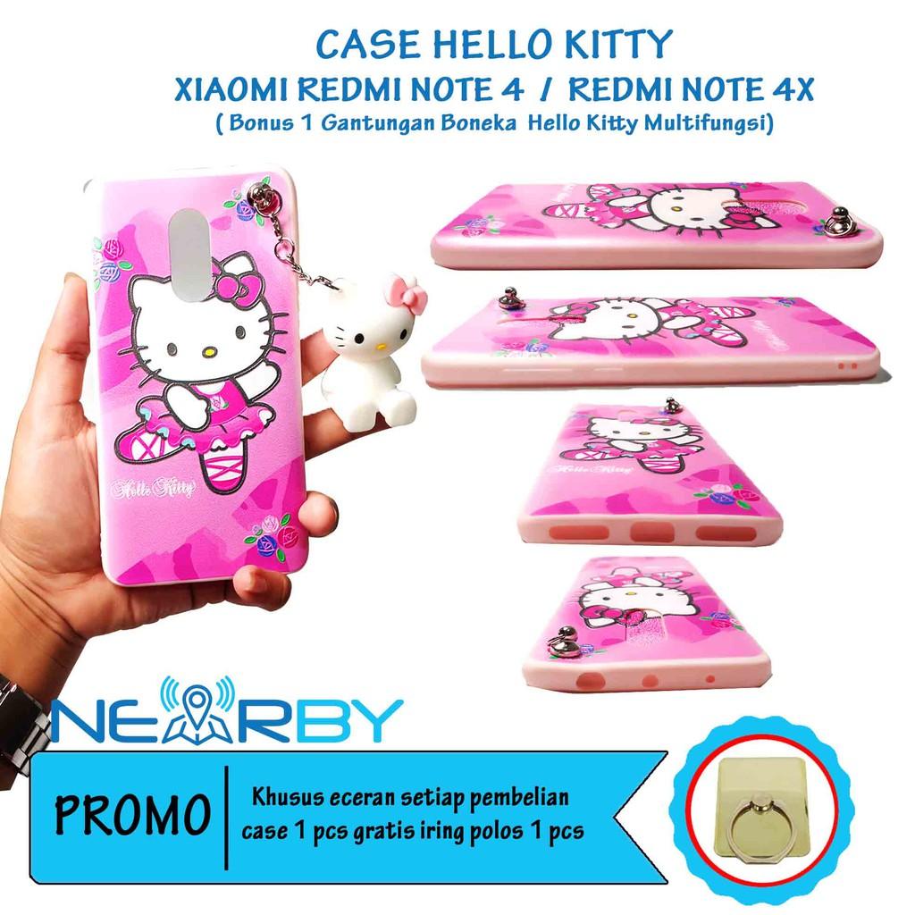 Paling Murah Case Xiaomi Redmi Note 4X Softcase Standing Hellokitty Free Gantungan Silicone Cantik | Shopee Indonesia