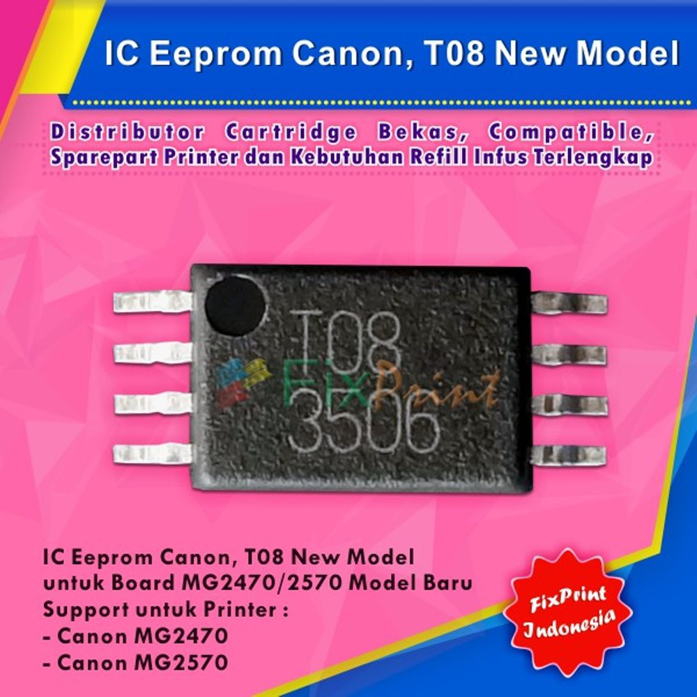 Ic Eprom Mg2470 Mg2570 Canon New Model T08 Eeprom Reset Tinta Hp Original Gt51 Black M0h57a 90ml Refill Printer Deskjet Gt5810 Gt 5820 All In One Counter Mg 2470 Shopee Indonesia