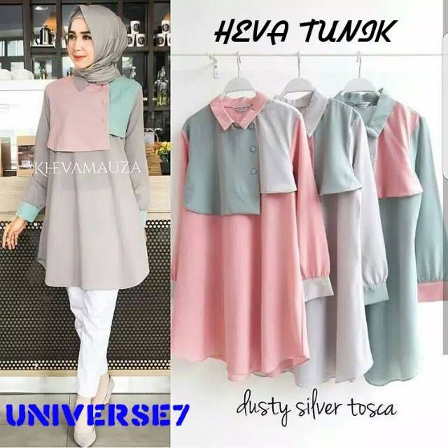 Orire Fashion Baju Atasan Wanita Lengan Panjang Baju Muslim Wanita Baju Ibu  Menyusui 4 Warna  2d86ed52ac
