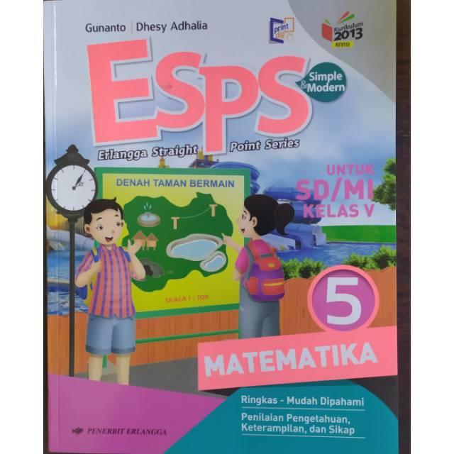 Esps Matematika Kelas 5 Sd Mi K13n Shopee Indonesia