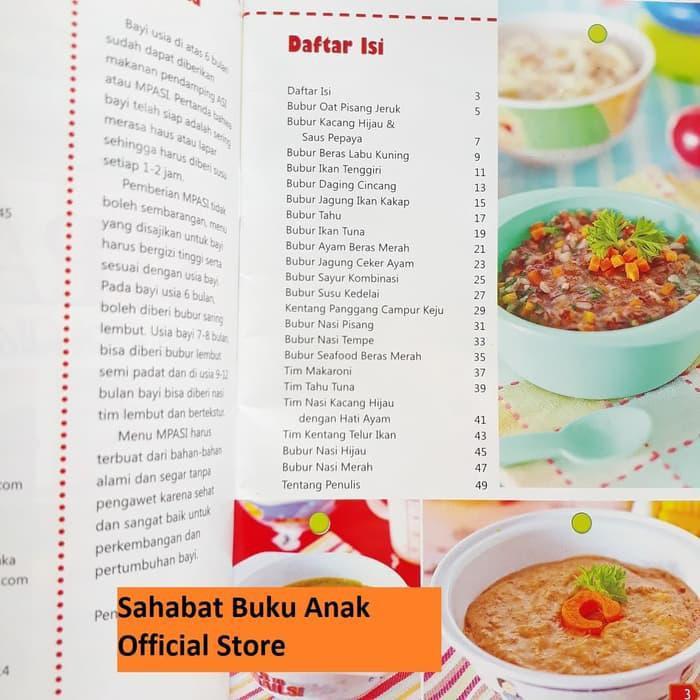 Buku Mpasi Makanan Pendamping Asi Mp Asi Usia 6 12 Bulan Kode 408 Shopee Indonesia