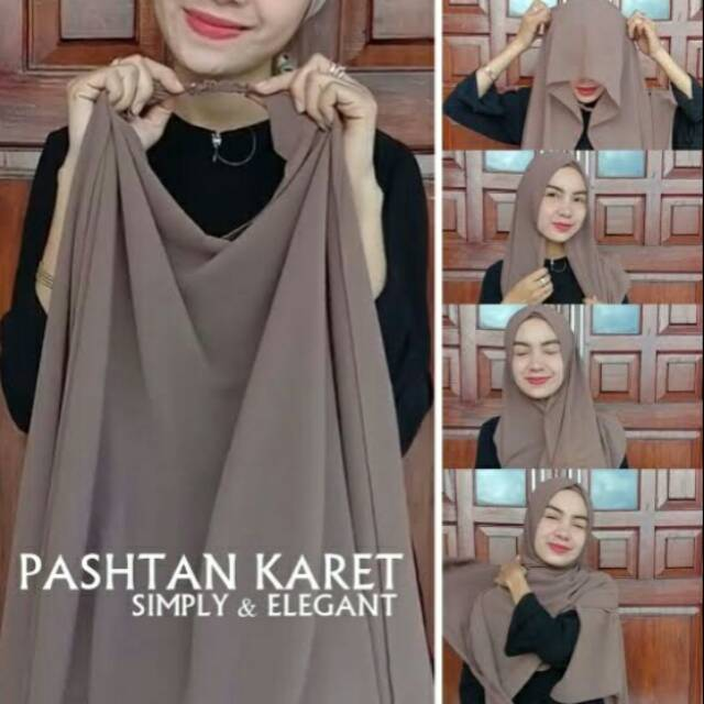 Pashmina Ceruti Karet Shopee Indonesia