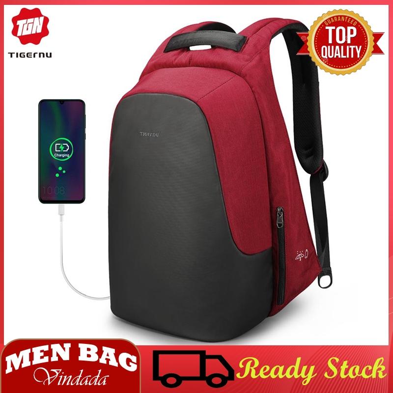 Tigernu Large Capacity Laptop Business Backpack WaterProof Men Women travel bag