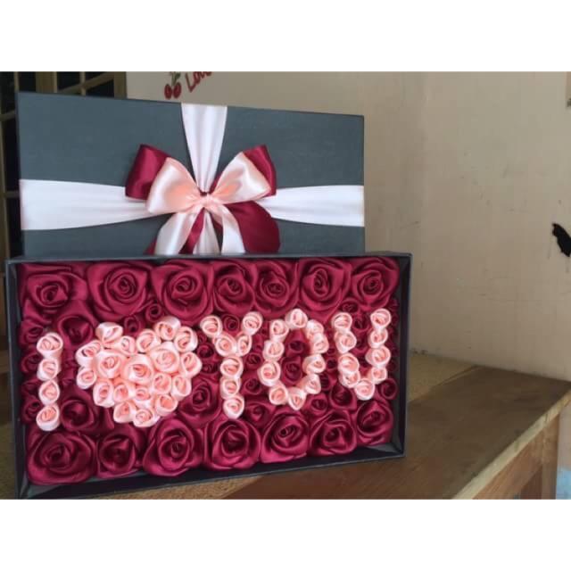 Buket Box Flower Box Kado Anniv Kado Pacar Hadiah Pacar Valentine Shopee Indonesia