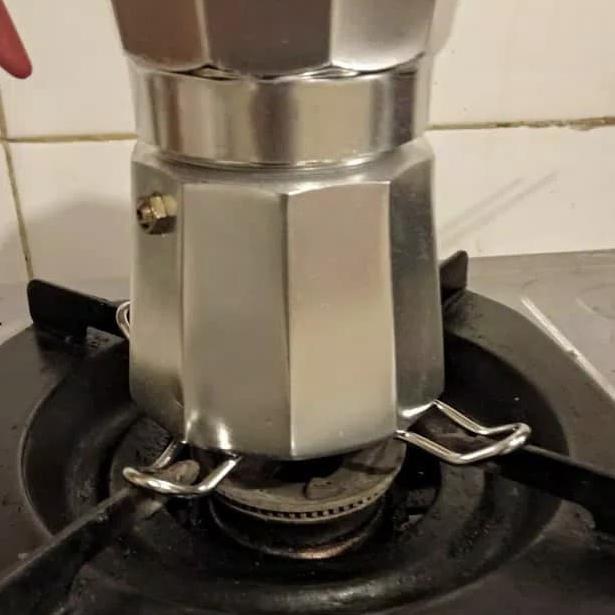 Universal Stove a levé Top Coffee Moka TRIVET POT PAN Stand GAS Cooker Small 130 mm