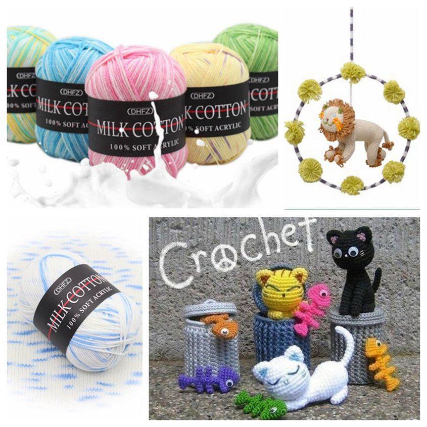 @CHIC 42 colors Crochet Soft Bamboo Cotton Knitting Yarn Baby Natural Wool Yarn*