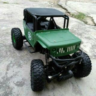 Jeep Rock Crawler >> Rc Rock Crawler Offroad Jeep Edition 4wd 2 4ghz Scale 1 18 Mobil Remote