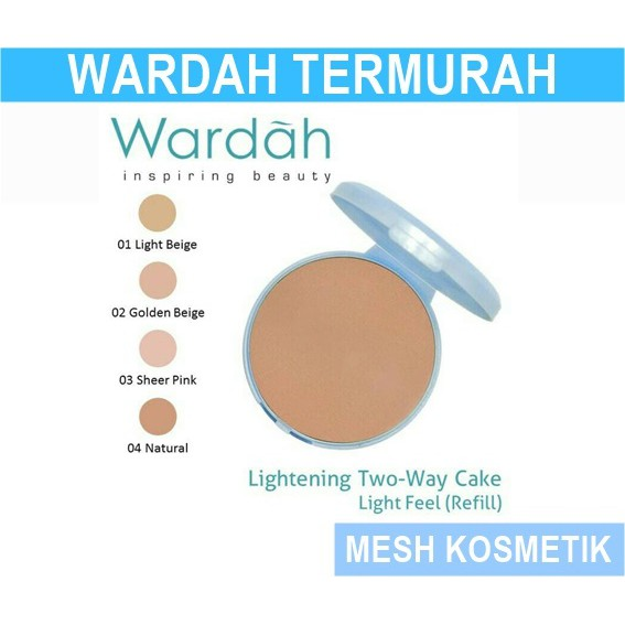 Wardah Lightening REFILL TWC 02 Golden Beige Light Feel   Shopee Indonesia