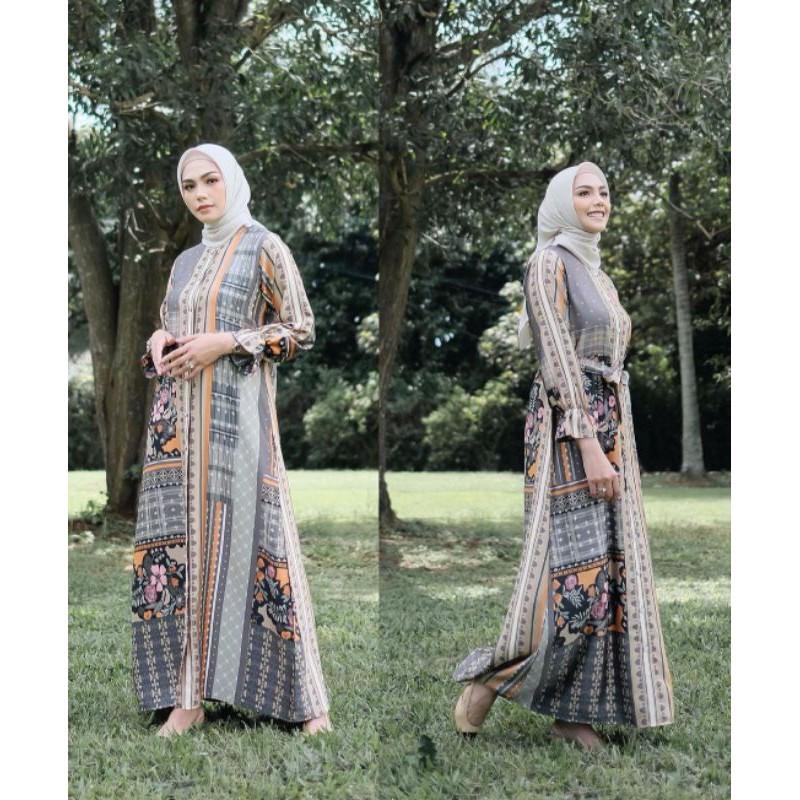 vanilla hijab BINAR dress nature