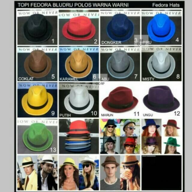 JUAL topi Fedora Coboy hat dewasa beludru hats TERUPDATE  a902244c9e