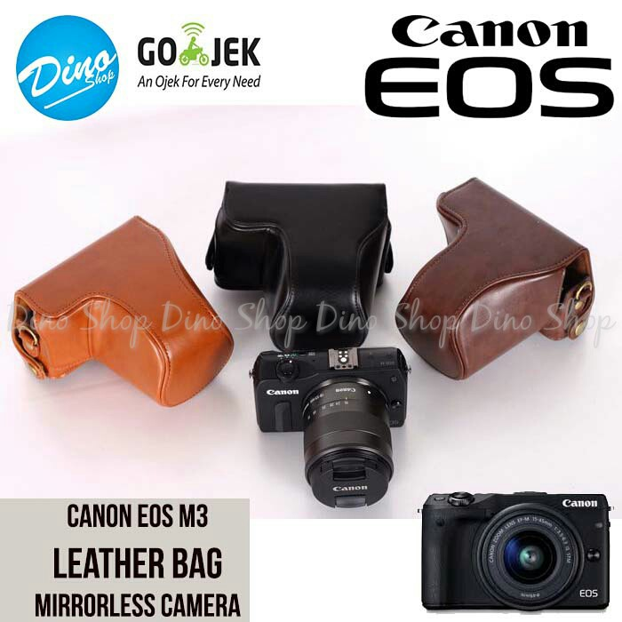 Canon EOS M3 Leather Bag   Case   Tas Kamera Kit 15-45 MM   18-55 MM ... 5bb39fe9bd