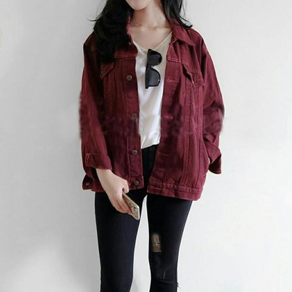 Jaket Jeans Hijau Army Denim Shopee Indonesia Galant Bolak Balik Dua Warna