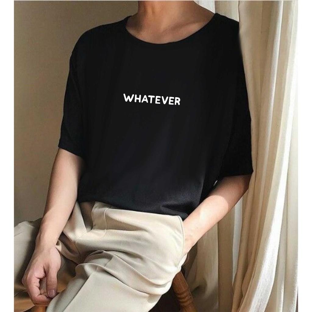 Kaos T Shirt Tulisan Whatever Tumblr Tee Ootd Aesthetic Distro