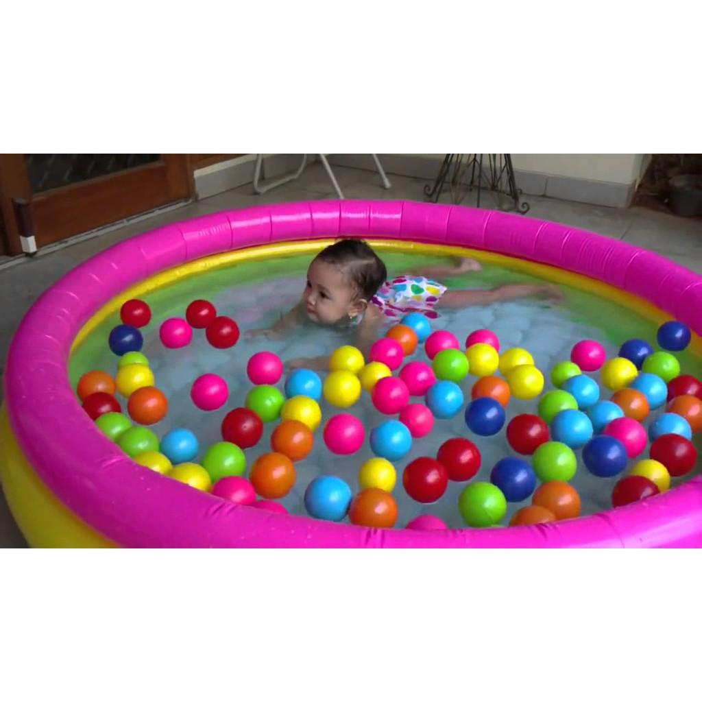 Kolam Anak Intex Pelangi Karet Renang 57412 114cm Swim Center See Through Round Pool 57489 Blue Shopee Indonesia