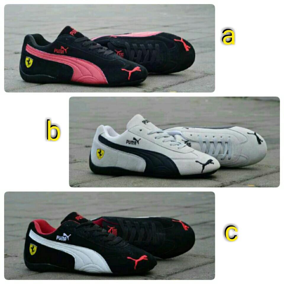 Sepatu Puma Ferrari Woman Sneakers Aerobik Jogging Santai Sport Wanita  Murah Olahraga 83b74d867f